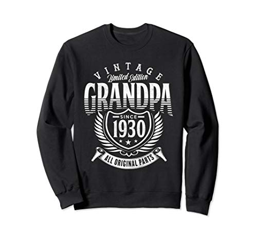 Vintage 90th Birthday Grandpa Since 1930 Sweatshirt