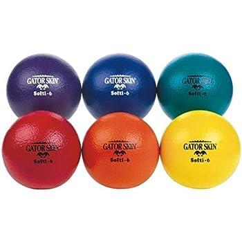S&S Worldwide Gator Skin Softi Ball-Red - Single Ball