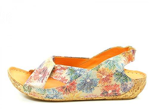 19 fashion Beige Sandalias 32010 de mujer cuero Gemini qCaFS