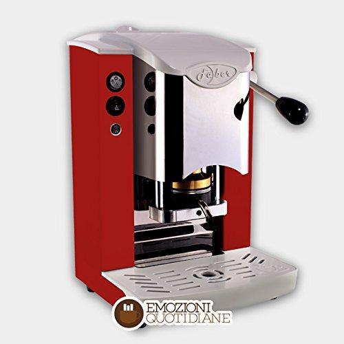 4 opinioni per MACCHINA CAFFE A CIALDE IN CARTA ESE 44MM FABER SLOT INOX COLORE ROSSA