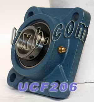 30mm Bearing UCF-206 + Square Flanged Cast Housing Mounted Bearings