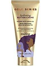 Gold Series, Butter Crème Hair Treatment, with Argan Oil, Sulfate Free, with Argan Oil, Intense Hydrating, from Pantene Pro-V, for Natural and Curly Textured Hair