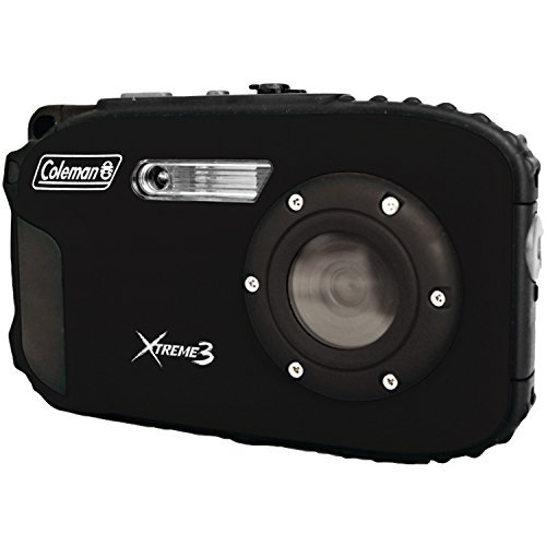 Coleman C9WP-BK Xtreme3 20 MP Waterproof Digital Camera with Full 1080p HD Video (Black) Color: Black, Model: C9WP-BK, Electronics & Accessories Store