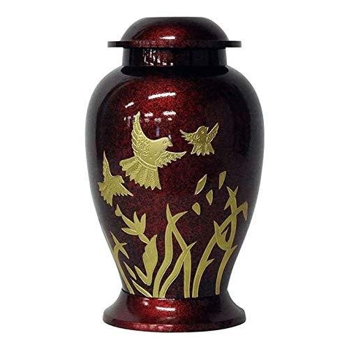 Memorial Urn House Urna funeraria in Ottone per Cenere umane Adulti, urne con Amore, Lavoro a Mano