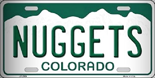 Nuggets Colorado Novelty State Background Metal License Platefor Home/Man Cave Decor by PrettyMerchant