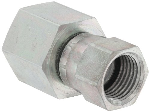 EATON Aeroquip 2242-6-6S Female 37 Degree JIC Swivel to Female Pipe, JIC 37° & NPT End Types, Carbon Steel, 3/8 JIC(f) x 3/8 NPT(f) End Size, 3/8'' Tube OD, 3/8'' Female Pipe Size by Aeroquip