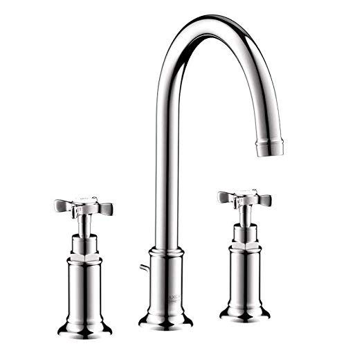 (AXOR AXOR Montreux  Classic 2-Handle  11-inch Tall Bathroom Sink Faucet in Chrome, 16513001)