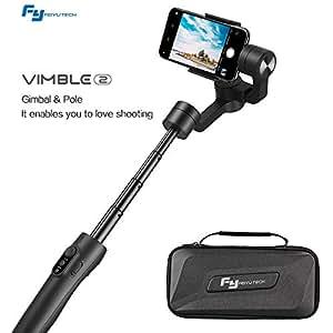 Mbuynow Feiyu Vimble 2 Gimbal 3 Ejes Estabilizador de Smartphone para iPhone, Cámara Deportiva y Todas Las Cámaras Gopro (Negro)