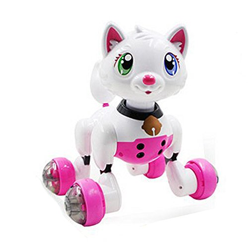 Large Sale Distant Management Infrared Cute Robotic Sensible Canine, Ocaler Cute Pet Toy for Children Boys Ladies Xmas Present (pink)  Evaluations