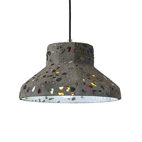 Frideko Rustic Industrial Cement Lamp Shade Loft Ceiling Pendant Light for Home Office Restaurant Dining Room Café (Type B) - Silver Lake Ceiling Fan