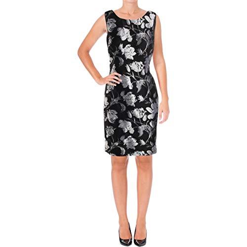 Kasper Women's Floral Jacquard Sheath Dress, Silver/Multi 4