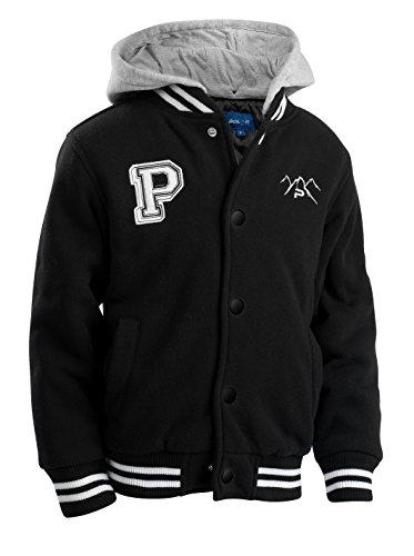 The Polar Club Mens Fleece Varsity Baseball Jacket