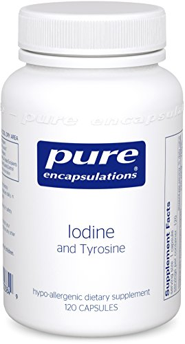 Pure Encapsulations - Iodine and Tyrosine - Hypoallergenic Supplement for Enhanced Thyroid Support* - 120 Capsules