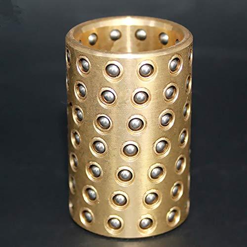 FidgetGear 1pcs Ball Bearing Cage Brass Bushing Retainer 25mm x 50mm 25mm x 60mm Gold Tone 25mm x 50mm