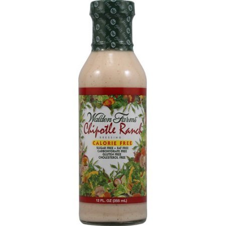 Calories Ranch Dressing (Walden Farms Calorie Free Dressing Chipotle Ranch, 12.0 FL OZ, pack of 1)