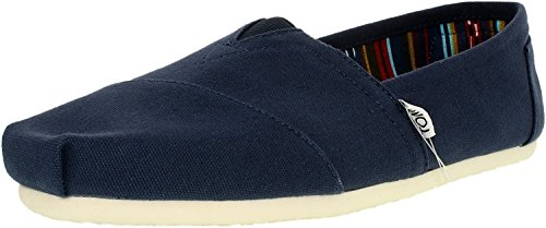 TOMS Men's Classic Canvas Slip-On, Navy – 8 B(M) US