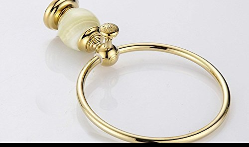 FACAIG Copper luxury cycle the marble of the gold towel ring bathroom towel hanging Bracket by FACAIG (Image #3)