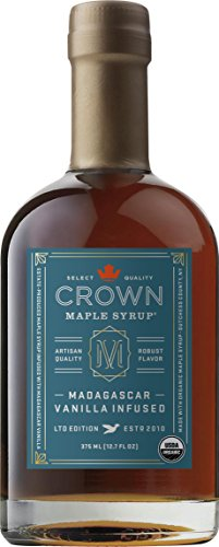 Crown Maple Organic Maple Syrup, Madagascar Vanilla Infused, 12.7 Fluid Ounce