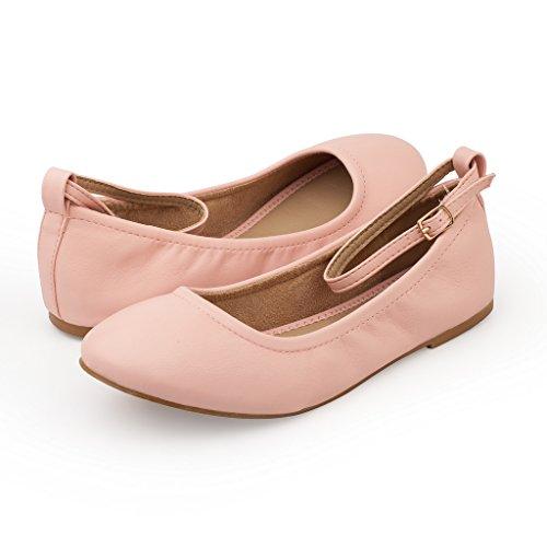 Shoes Straps Pink Fina Ankle Straps Women's PAIRS Flats Ballet Sole DREAM pwqP4z4