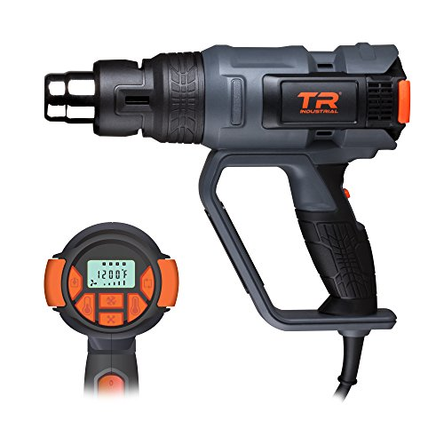 TR Industrial 1700W Digital Heat Gun Kit, Digital Controls with Memory Settings, Large LCD Display