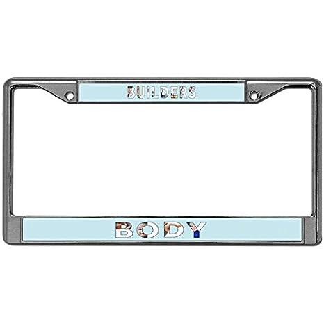 Amazon com: Kingchoo Metal License Plate Frame BUILDERS BODY