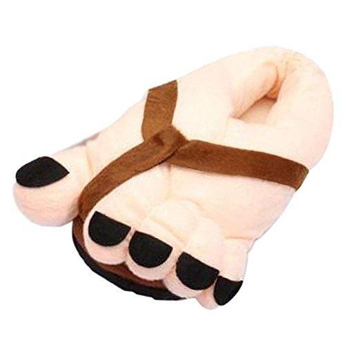 Pantoufles Doux Drôle Marron Peluche Adultes Chaussures Intérieur De Cadeaux Minetom Grands Toe Pieds Funny Hiver Chaussons En Chauds Pour nP4qwUqpTx