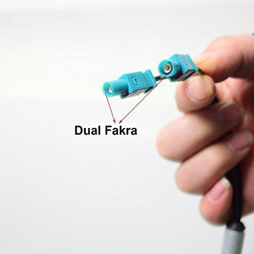 Double FAKRA à ISO DIN Auto Antennes Adaptateur Signal Amplificateur Booster