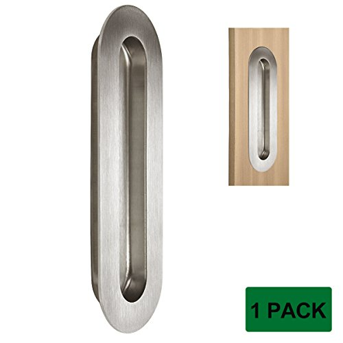 (Probrico Stainless Steel Sliding Door Cabinet Recessed Flush Pull, Oval 6.8