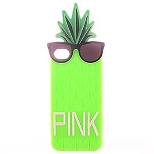Rebanna Silicona de piña de gafas de sol lindo moda suave funda (iPhone 6S Plus iPhone 6S iPhone 6 Plus iPhone 6 iPhone 5C iPhone 5/5S )(iPhone 5C,Verde)