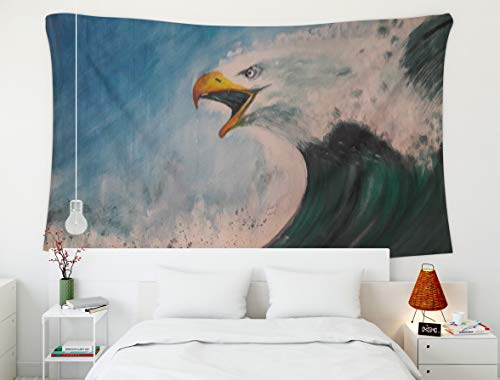 Hnag Wall Tapestry,Watercolor Eagle,Tapestry,Shorping 80x60 InchInches Hanging Wall Tapestry for Décor Living Room Dorm pattern vintage floral tropical background set abstract background backdrop beau ()