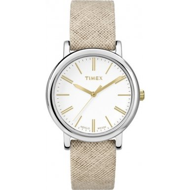 Timex Originals TW2P63700 Ladies Linen Tan Fabric Strap Watch