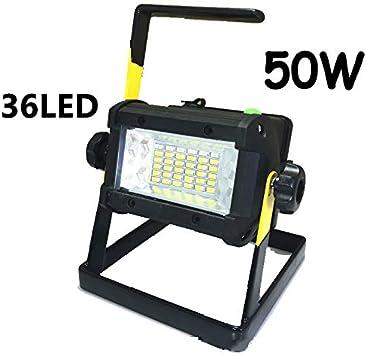 10W-50W LED Akku Fluter Handlampe Strahler Arbeitsleuchte Flutlicht Baustrahler