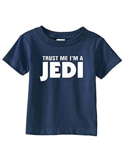 c52a53f091354 South Horizon Trust Me I m a JEDI Infant Toddler Tee~Navy Blue