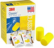 3M Classic Earplugs, Disposable, Pillow Pack, Ear Plugs for Sleeping, Snoring, Drilling, Grinding, Machining,
