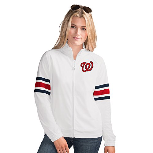 (Washington Nationals MLB Women's G-III Sports Game Score Full Zip Track Jacket (XL))