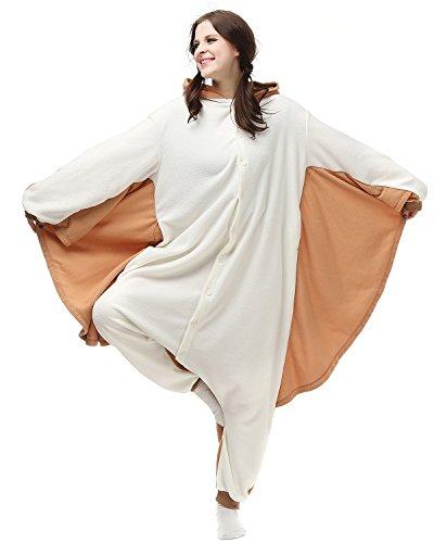 [Oneises Women Men's Animal Flying Squirrels Onesie Halloween Costume Pajamas Partywear Small] (Squirrel Halloween Costume)