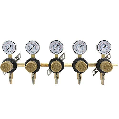 5-Way Seconday Air Regulator - Polycarbonate - Regulator Co2 Secondary