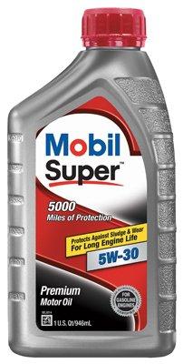 Mobil Super 5W30 Motor Oil, 1 Quart -- 6 per case.
