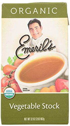 Natural Vegetable Stock (Emeril's Flavored Stock, Organic Vegetable, 32 Ounce (Pack of 6))