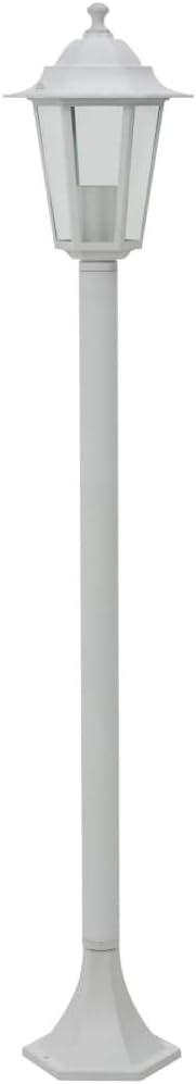 vidaXL 6x Farolas de Jard/ín Aluminio Color Blanco 110 cm Luz Iluminaci/ón Patio