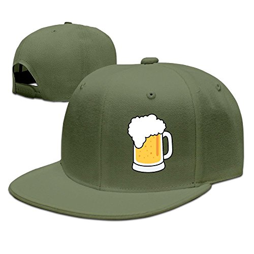 xssyz-i-love-beer-flat-bill-snapback-baseball-cap-forestgreen