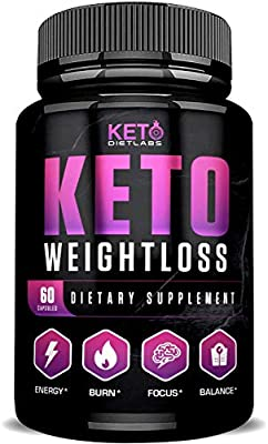 Keto Diet Labs - Keto Weightloss - 60ct - Keto Pills for Weight Loss - Perfect Keto Max Results - Ketogenic Diet Supplements for Men and Women - Keto Burn for Advanced Ketosis - Exogenous Ketones BHB