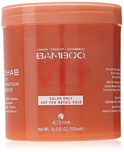 Alterna Bamboo UV Rehab Deep Hydration Masque for Unisex Masque, 16.9 Ounce