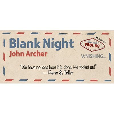 Blank Night (yellow) by John Archer (Penn And Teller Fool Us Best Trick)