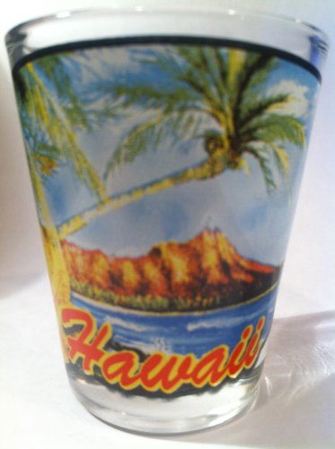 Hawaii Beachfront View Shot Glass (Glass Hawaii)