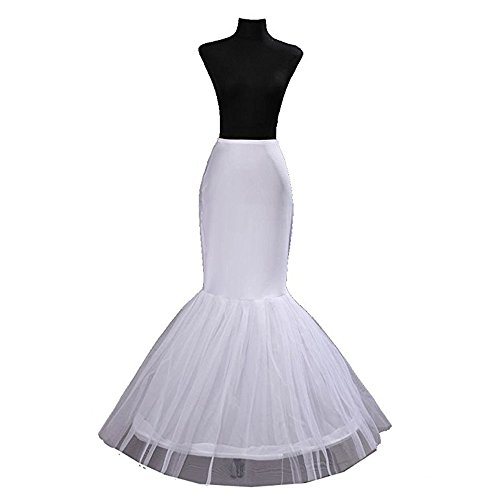 CUNOVA Mermaid Petticoat Crinoline Slips Underskirt for Bridal Gown Dress Petticoat Slip