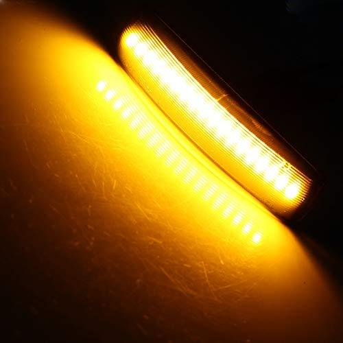 TOOGOO Indicatore di Direzione Dinamico Un LED 2PZ Indicatore di Direzione Sequenziale Lampeggiatore per Discovery 3 4 Freelander 2 Range Rover Sport