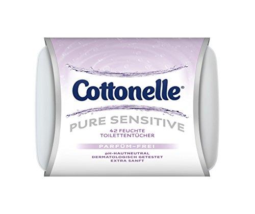 Cottonelle Feuchtes Toilettenpapier Pure Sensitive Box, 8er Pack  (8 x  42 Tücher)