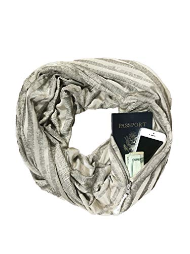 SHOLDIT - The Original Convertible Infinity Scarf with Pocket - New Collection, Vibe Champagne