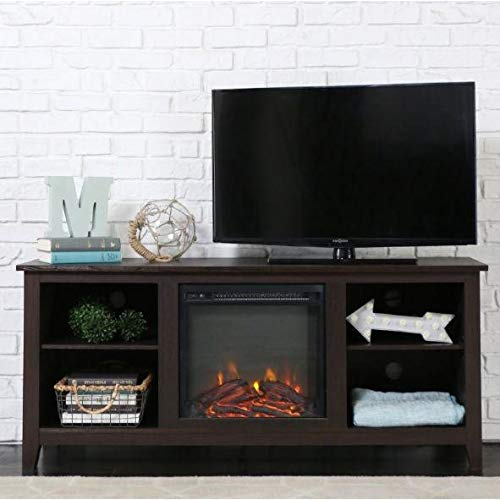 Cheap Espresso 2-in-1 Electric Fireplace TV Stand Heater Black Friday & Cyber Monday 2019